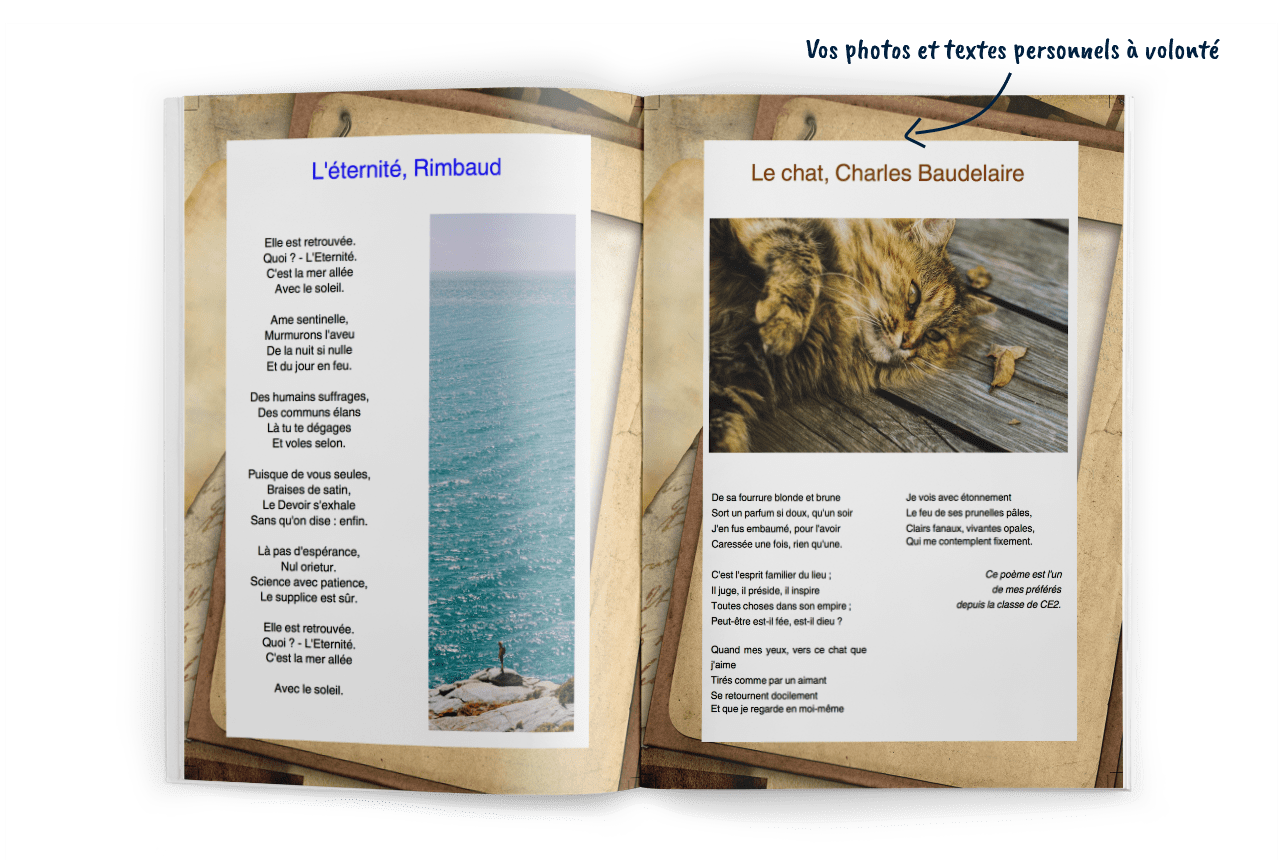 Créer son livre de poésies